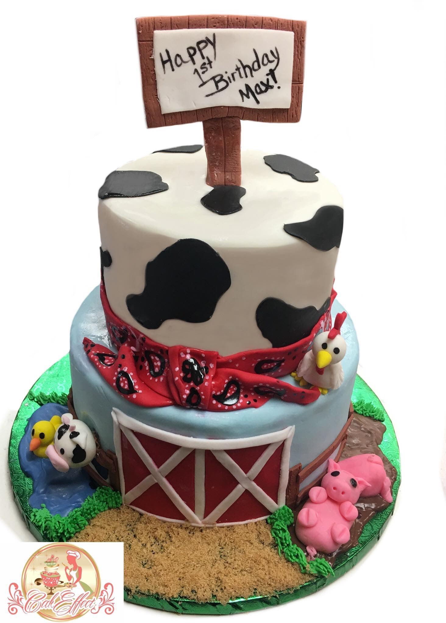 Birthday Cake Old MacDonald's Cow Farm - CakEffect Bakery
