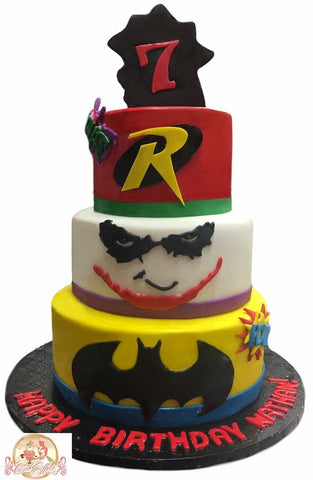 DC Comics Batman Riddler & Joker Tower Birthday Cake Birmingham Alabama