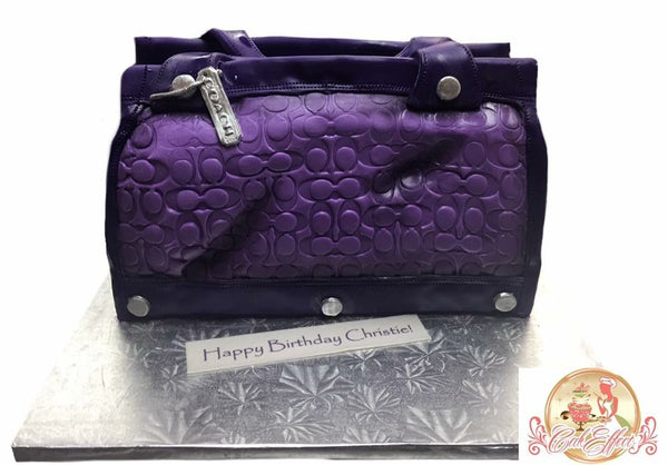 Coach Purple Leather Designer Purse Cake by Komeh in Alabama