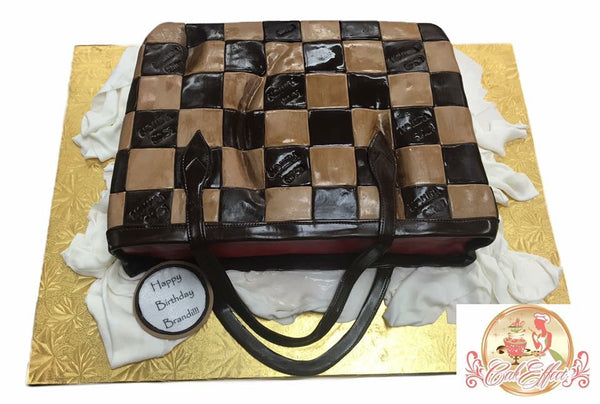 Louis Vuitton Designer Leather Purse Cakes by CakEffect Bakery in Alabama