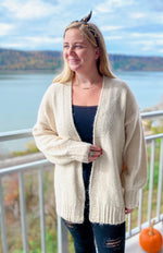 Load image into Gallery viewer, Ivory Star Cardigan