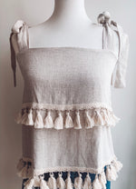 Load image into Gallery viewer, Tassel Tier Tank Top