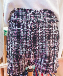 Tweed Plaid Shorts