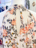 Fall Floral OTS Blouse