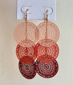 Trio Disc Earrings