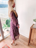 Load image into Gallery viewer, Plum Midi Dress