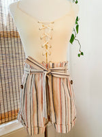 Load image into Gallery viewer, Blush Striped Linen Shorts
