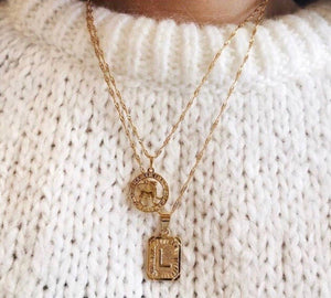 Gold Initial Necklace *pre order*