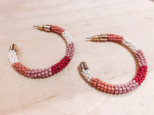 Rosie Beaded Hoops