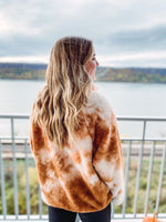 Load image into Gallery viewer, Camel Tie Dye Pullover