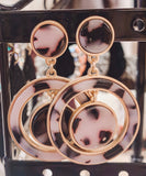 Tortoise Shell Drop Earrings