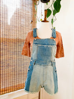 Load image into Gallery viewer, Two Toned Fringe Denim Overalls