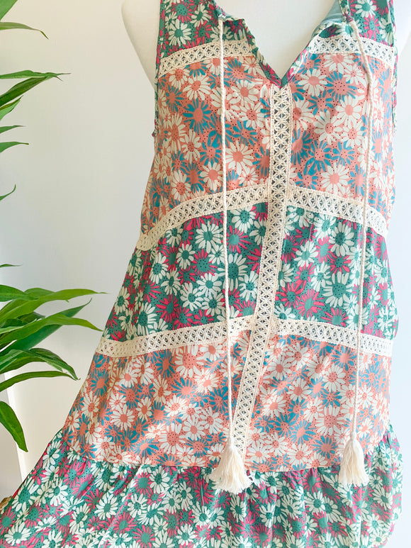Patchwork Field Floral Shift Dress