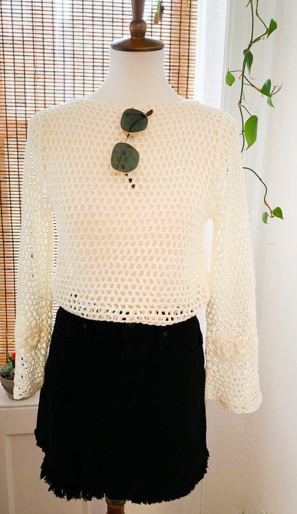 White Crochet Bodysuit