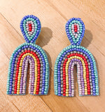Load image into Gallery viewer, Rainbow Beaded Earrings
