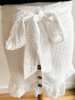 Load image into Gallery viewer, White Eyelet Skirt