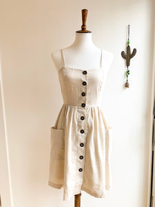Breezy Buttoned Dress