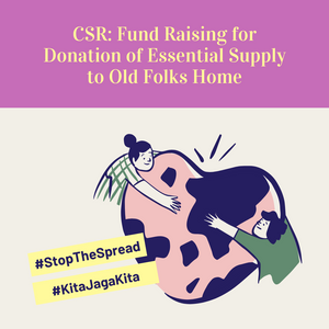 CSR: Fund Raising for Donation of Essential Supply to Old Folks Home
