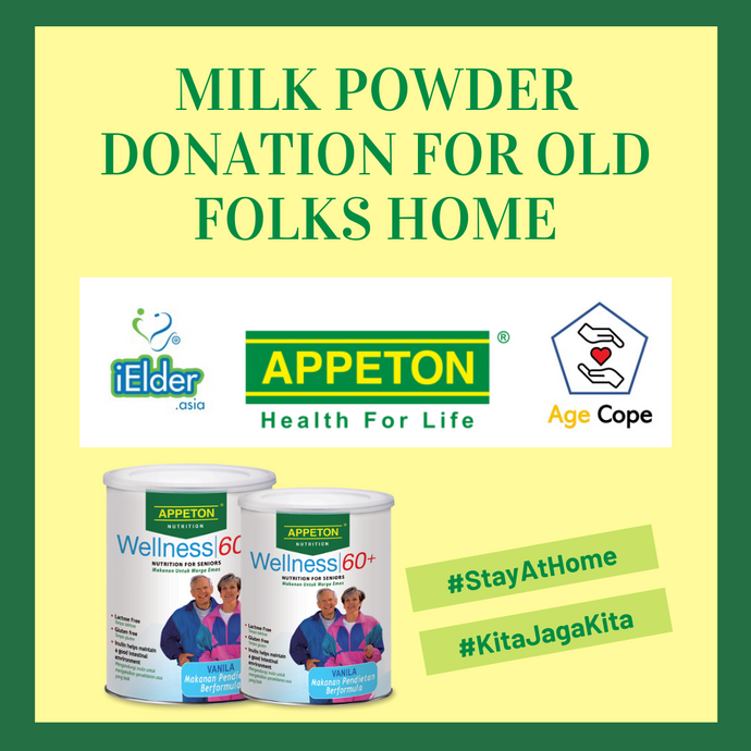 Milk Powder Donation For Old Folks Home