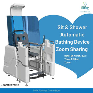 Online Meet Event- Shower Chair and Sit & Shower Wheel Automation Bathing New Technology