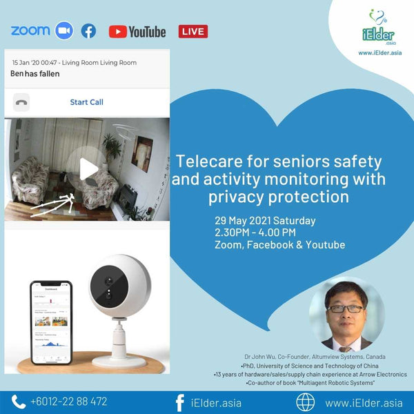 Online Meet Event: Telecare for seniors safety and activity monitoring with privacy protection