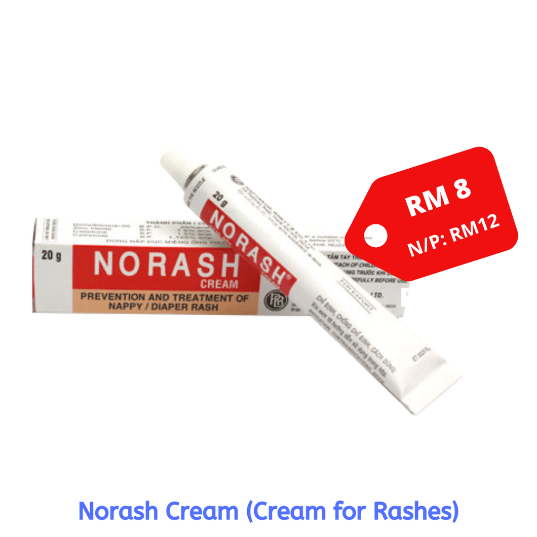 Norash Cream (Prevention & Treatment of Nappy/Diaper Rash) 20g - Asian Integrated Medical Sdn Bhd (ielder.asia)