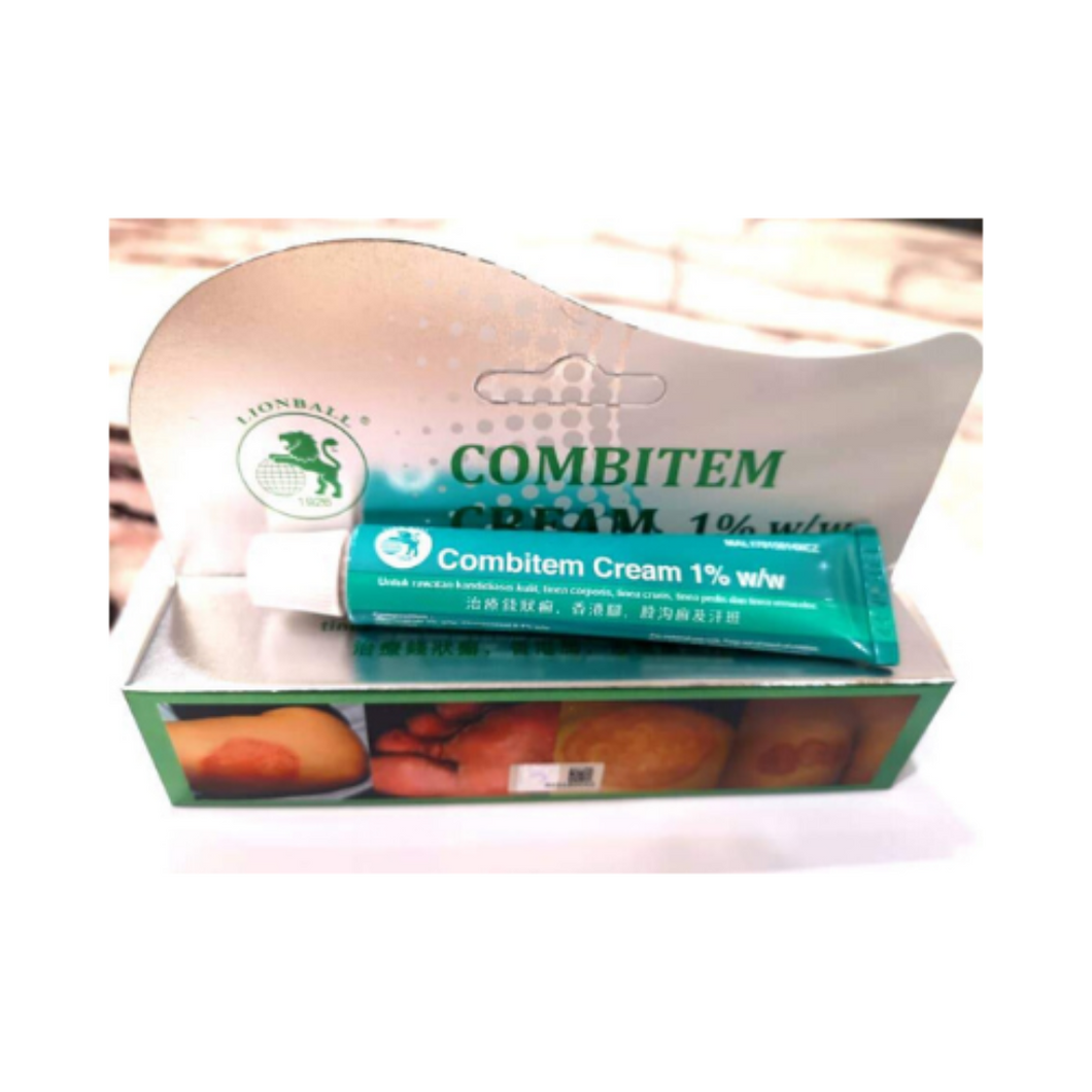 Ubat Kurap Lion Ball Combiten Cream 1% w/w 香港脚汗斑及癣软膏 (10g) [expiry date April 2022]