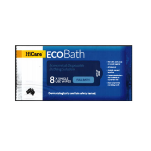 HiCare EcoBath Wipes (8's per pack)