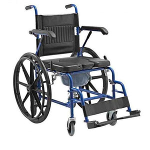 "2 IN1 Self Propel Commode Wheelchair 18"" - Asian Integrated Medical Sdn Bhd (ielder.asia)"