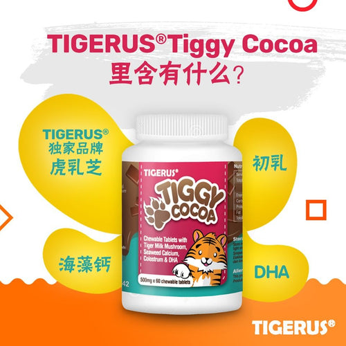 TIGERUS TIGGY Cocoa Chewable Tablets (500mg x 60 tablets)