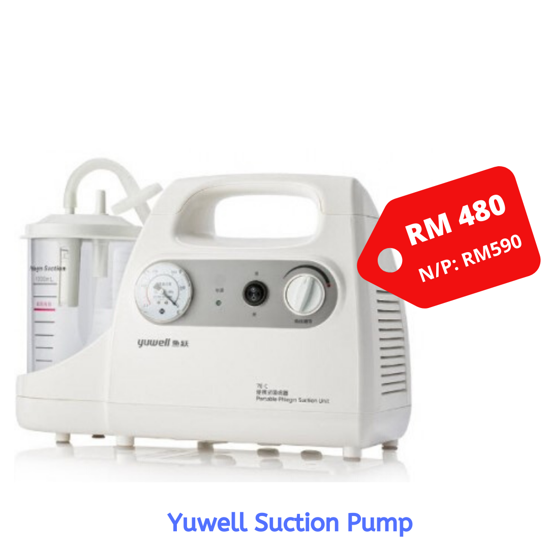 Yuwell Suction Pump Model 7E-C (221) - Asian Integrated Medical Sdn Bhd (ielder.asia)