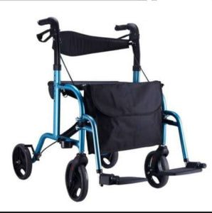 "Aluminium Rollator/ Pushchair (Blue) (18"")"