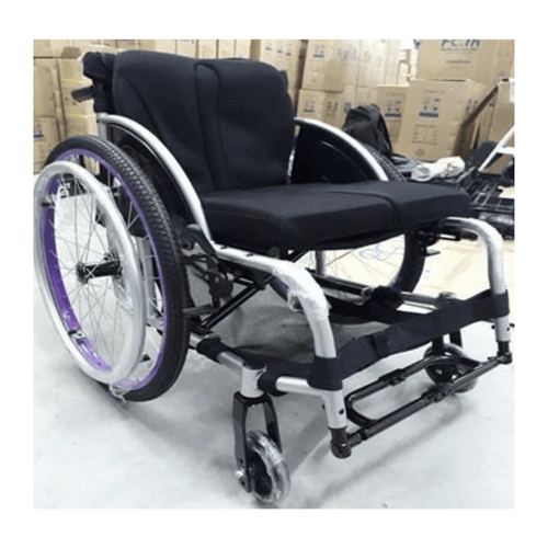 Aluminium Fordable Leisure-Sport Black Wheelchair 11.7kg - Asian Integrated Medical Sdn Bhd (ielder.asia)