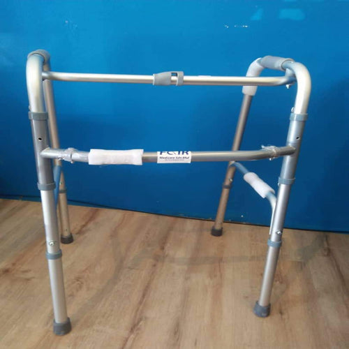 Aluminum Folding Walker (Silver)