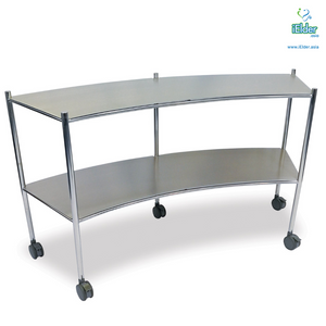 [Pre-order] Arata Stainless Steel Half Moon Hospital Trolley