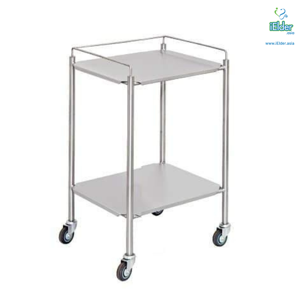 [Pre-order] Arata Stainless Steel Instrument Trolley with Guardrail (MADE IN MALAYSIA)