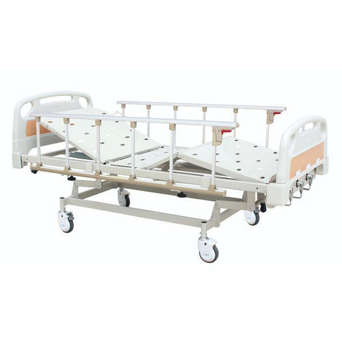 Full set Hospital Mechanical Hi-Lo bed with Mattress and Side Rails - Asian Integrated Medical Sdn Bhd (ielder.asia)