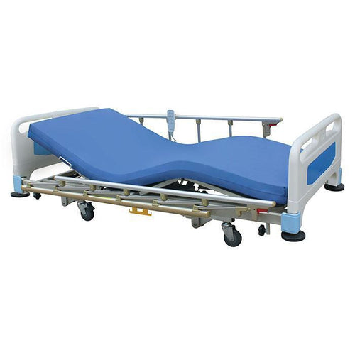 Ultra Low Electrical Hospital Bed (Full Set) with mattress and side rail-3 functions - Asian Integrated Medical Sdn Bhd (ielder.asia)