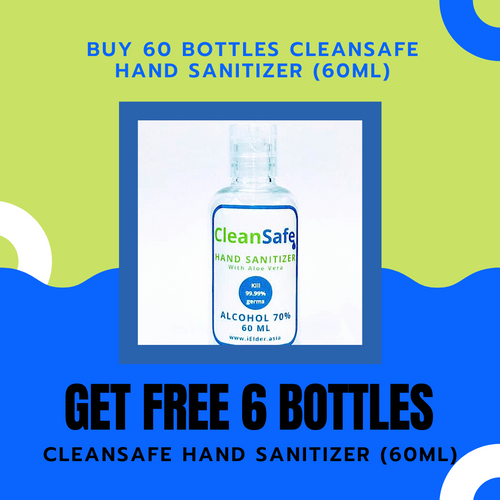 CleanSafe Hand Sanitizer with Aloe Vera 70% Alcohol (60ml)