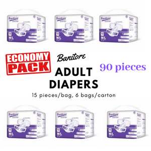Banitore Adult Diapers Soft For Nursing Home Per Carton (15pcs / bags, 6 bags)