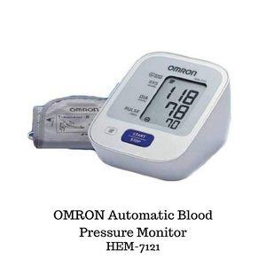 OMRON Automatic Blood Pressure Monitor (standard) HEM-7121 - Asian Integrated Medical Sdn Bhd (ielder.asia)