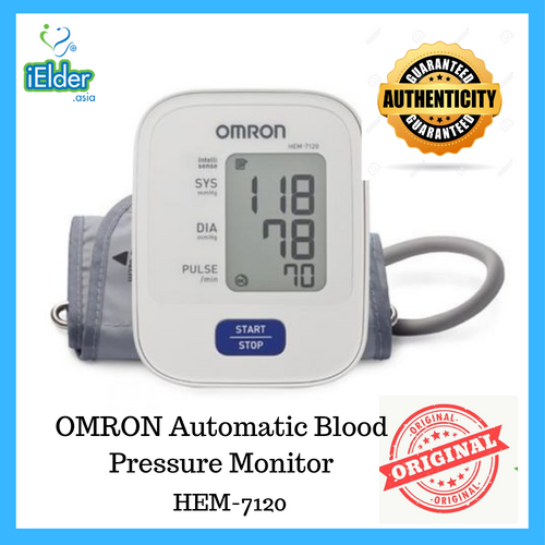 Omron Automatic Blood Pressure Monitor (Basic-1 memory) HEM-7120 - Asian Integrated Medical Sdn Bhd (ielder.asia)