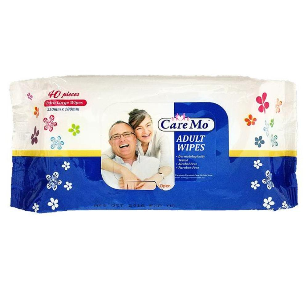 Care Mo Cleaning and Skin Care Adult Wipes (40 sheets/pack) - Asian Integrated Medical Sdn Bhd (ielder.asia)