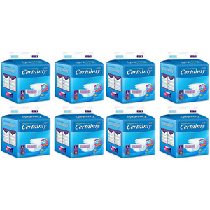certainty adult diapers L10 8 bags carton