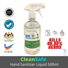 CleanSafe Hand Sanitizer Liquid (Spray) 500 ml [Ready Stock] [Expiry Date: April 2022] (MADE IN MALAYSIA)