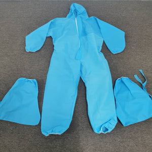 PPE Jumpsuit with Boot Cover only, 70 GSM, white or blue - Asian Integrated Medical Sdn Bhd (ielder.asia)