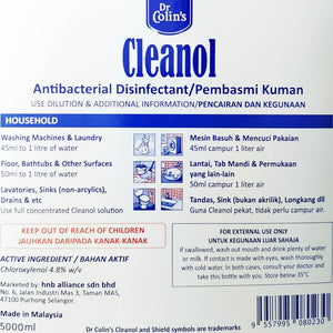 Dr Colin's Cleanol Antibacterial Disinfectant Germicide Liquid Wash 5 litre [Kill 99.9% germs including Virus, Bacteria etc] - Asian Integrated Medical Sdn Bhd (ielder.asia)