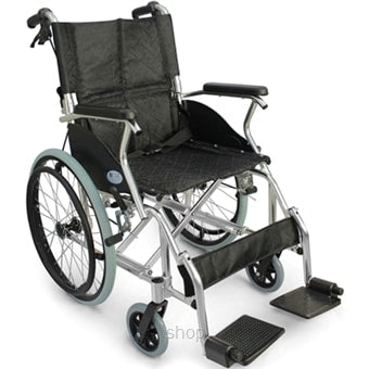 I-Compact Black Economy Wheelchair/Pushchair 11.4kg - Asian Integrated Medical Sdn Bhd (ielder.asia)