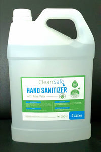 CleanSafe Hand Sanitizer with Aloe Vera 70% Alcohol Gel type (5 litre) ETA 28 Jan 2021