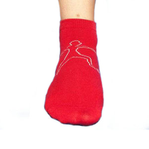 Anti Slip Safety Socks in Red (Short)